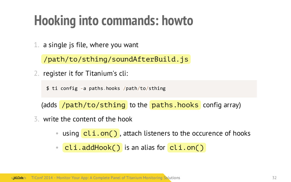 Hooking into commands: howto 1. a single js fil...