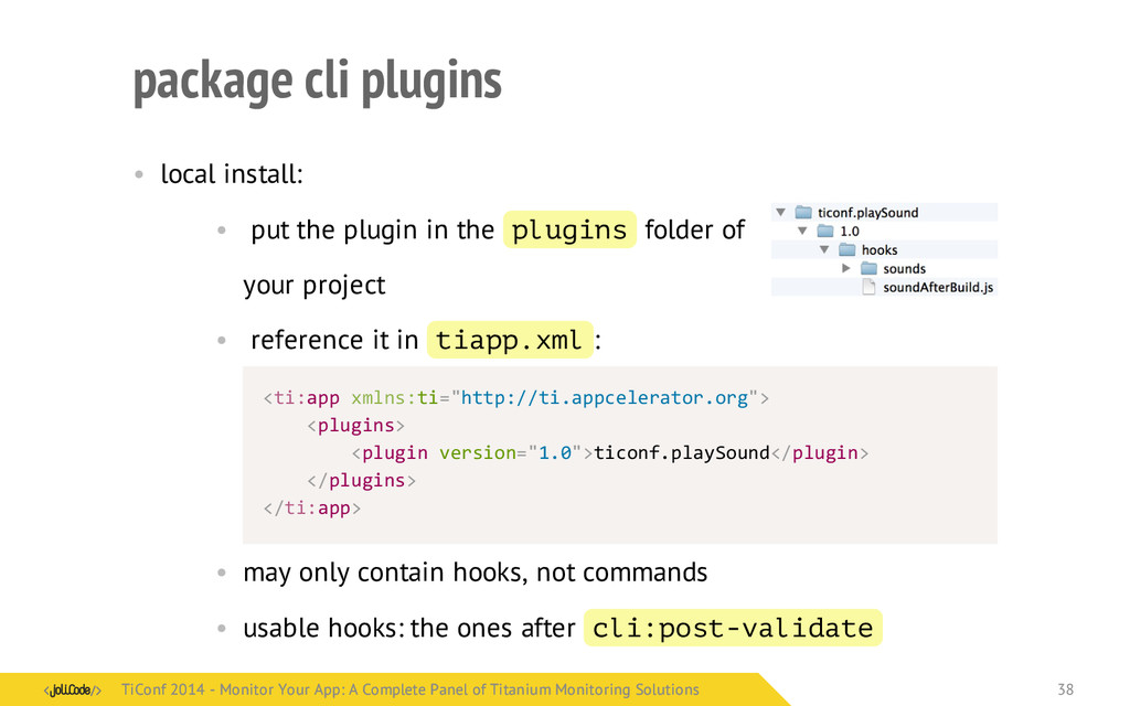 package cli plugins • local install: • put the ...