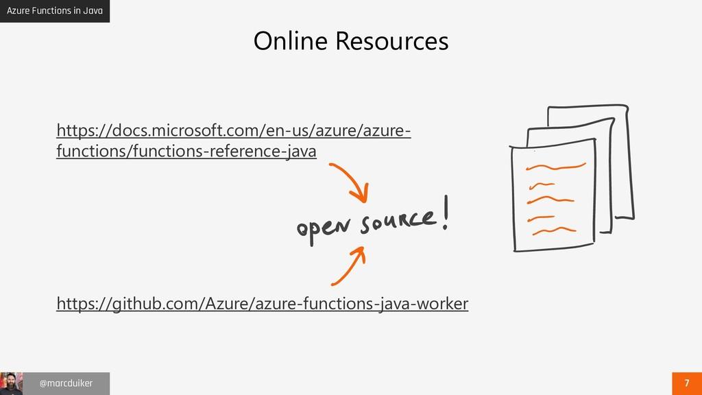 Azure Functions in Java @marcduiker Online Reso...