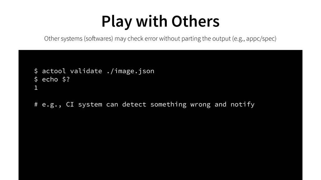 Play with Others Other systems (softwares) may ...