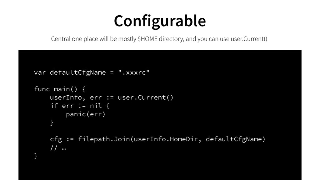 Configurable Central one place will be mostly $...