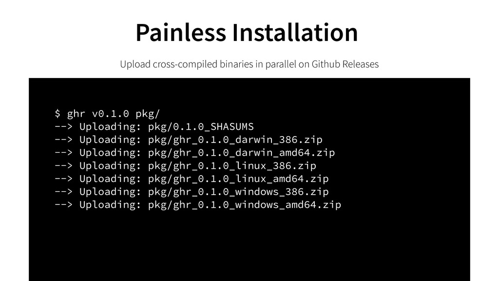 Painless Installation Upload cross-compiled bin...