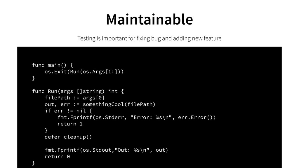 Testing is important for fixing bug and adding ...