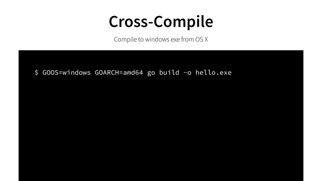 Cross-Compile Compile to windows exe from OS X ...