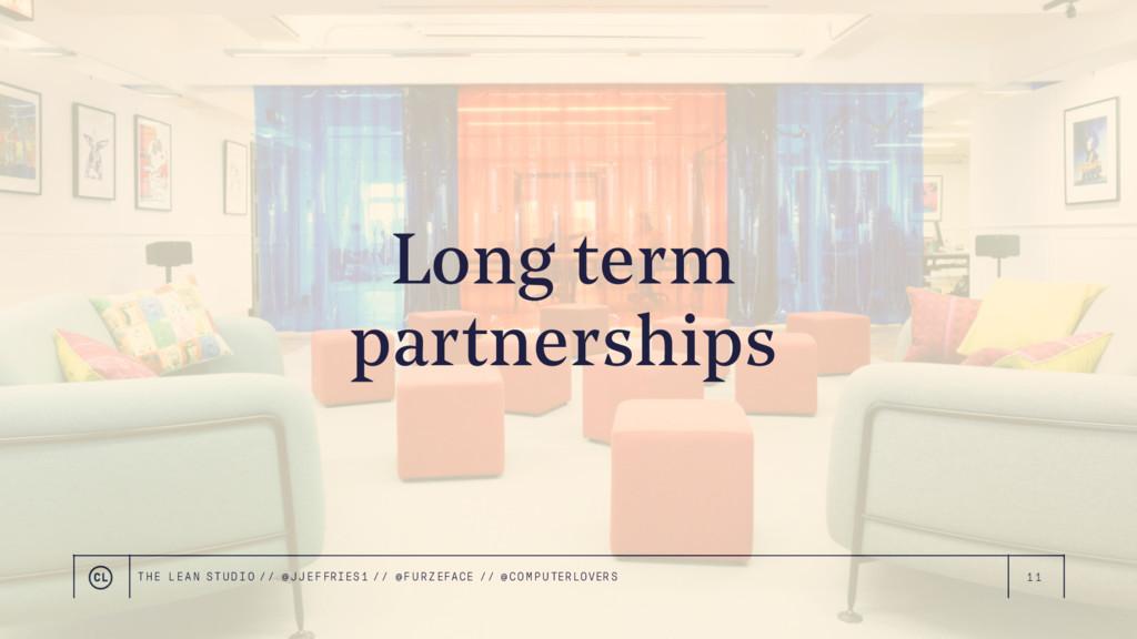 11 Long term partnerships THE LEAN STUDIO // @ ...