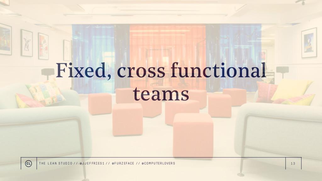13 Fixed, cross functional teams THE LEAN STUDI...