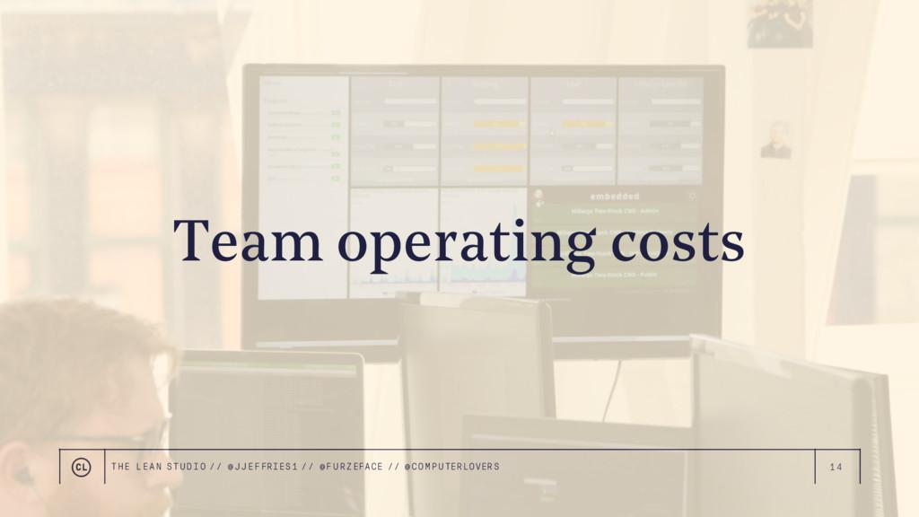 14 Team operating costs THE LEAN STUDIO // @ JJ...