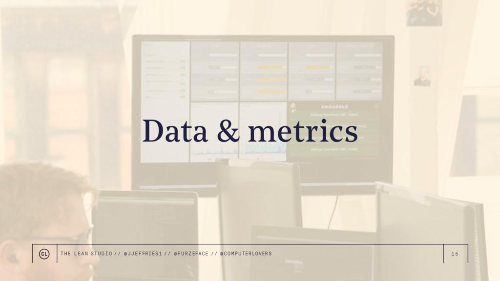 15 Data & metrics THE LEAN STUDIO // @ JJEFFRIE...
