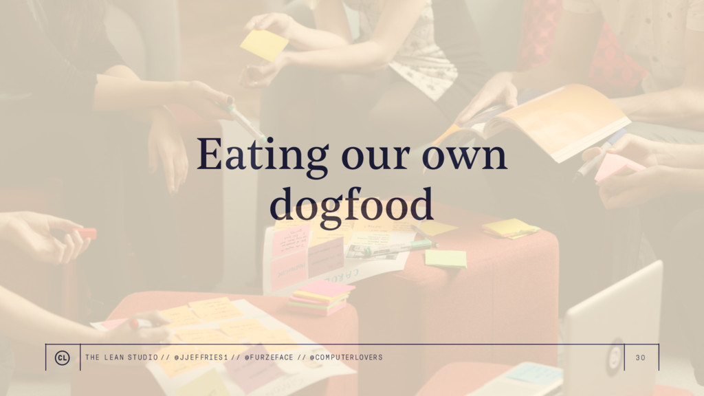 30 Eating our own dogfood THE LEAN STUDIO // @ ...