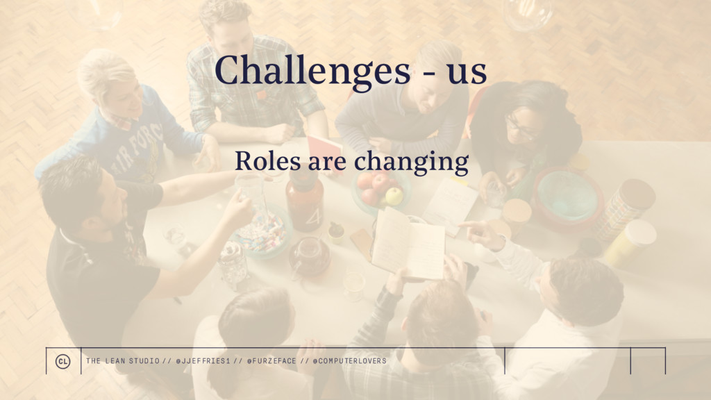 Challenges - us Roles are changing THE LEAN STU...