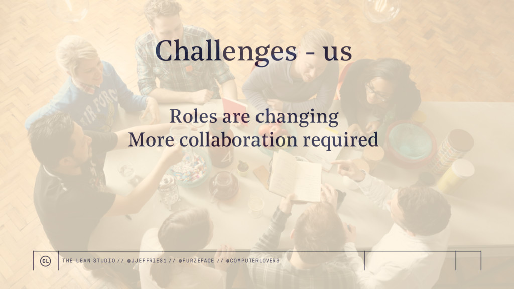 Roles are changing More collaboration required ...