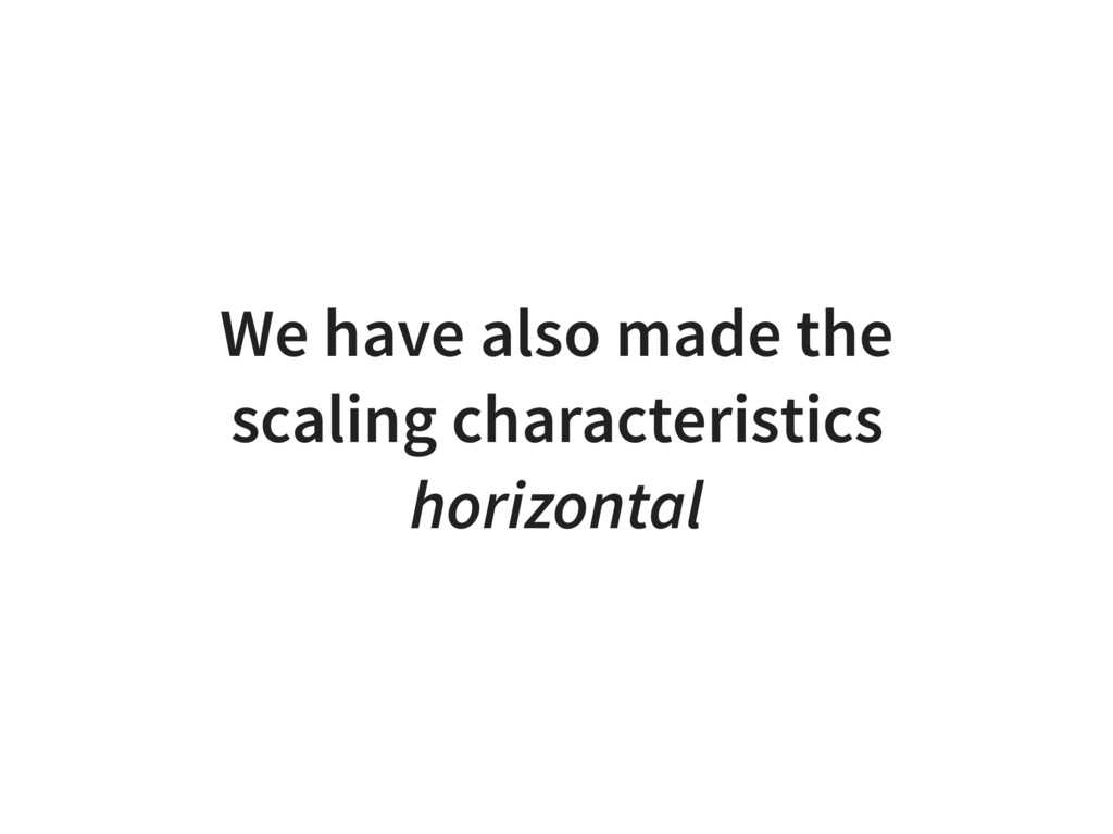 We have also made the scaling characteristics h...