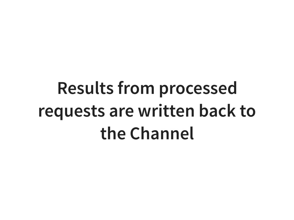 Results from processed requests are written bac...