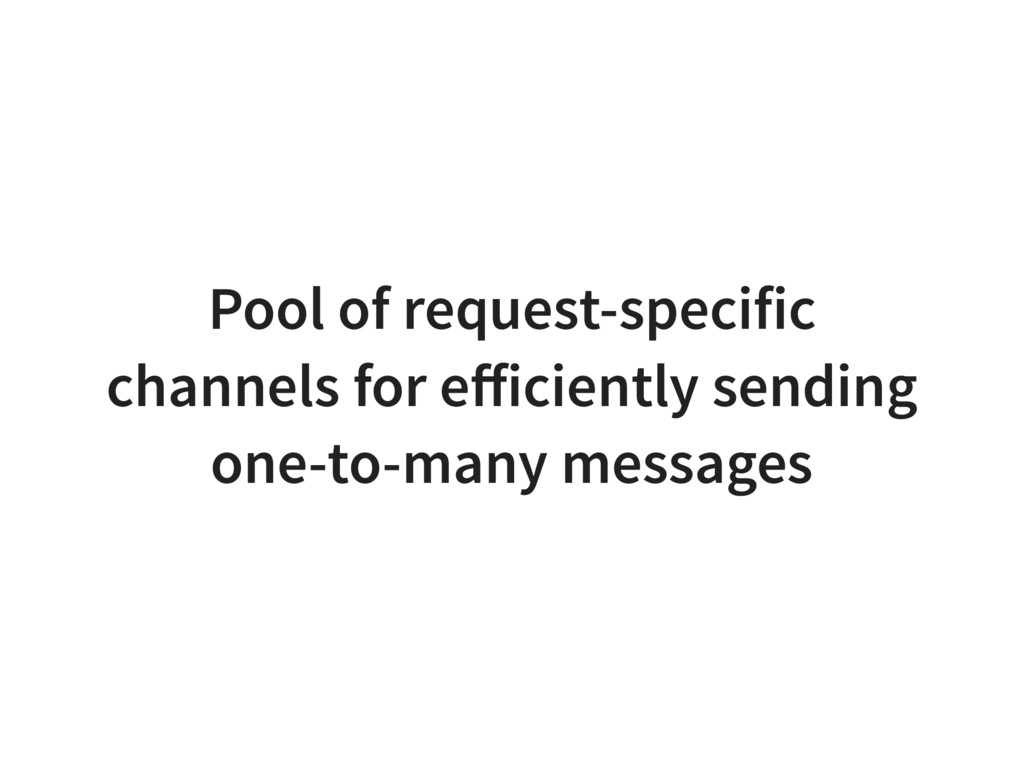 Pool of request-specific channels for efficientl...