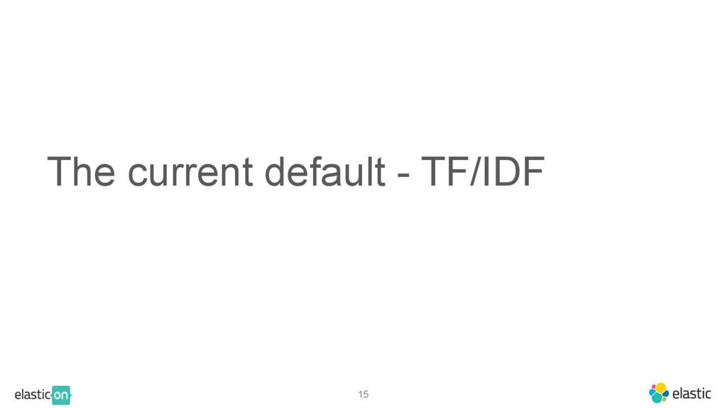 The current default - TF/IDF 15