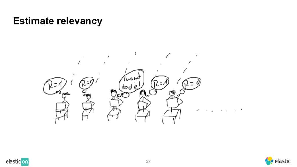 27 Estimate relevancy