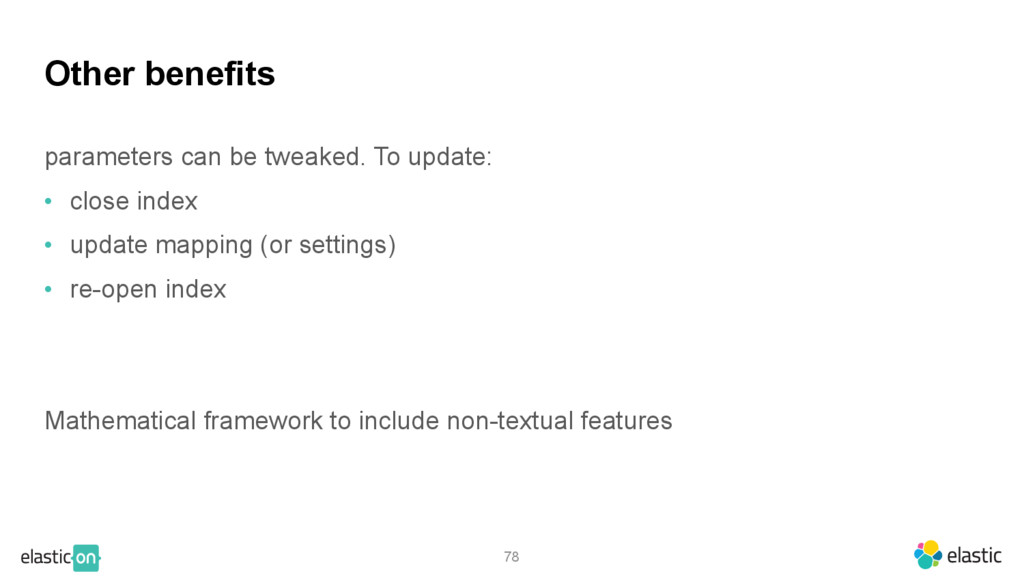 78 Other benefits parameters can be tweaked. To...