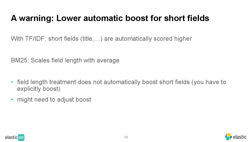 79 A warning: Lower automatic boost for short f...