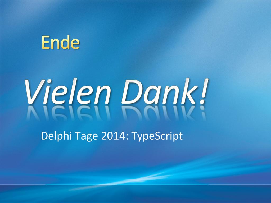 Delphi Tage 2014: TypeScript