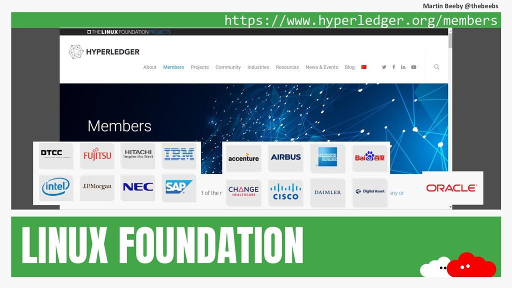 Martin Beeby @thebeebs https://www.hyperledger....