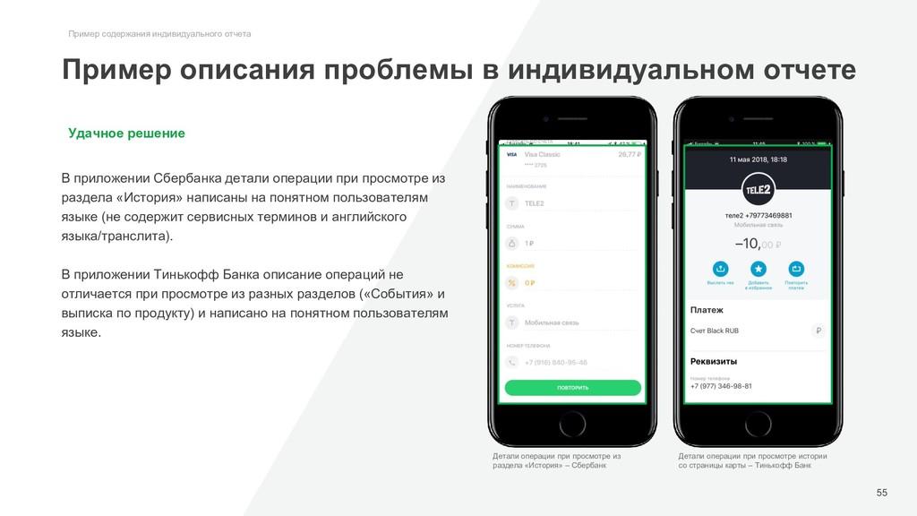 Удачное решение В приложении Сбербанка детали о...