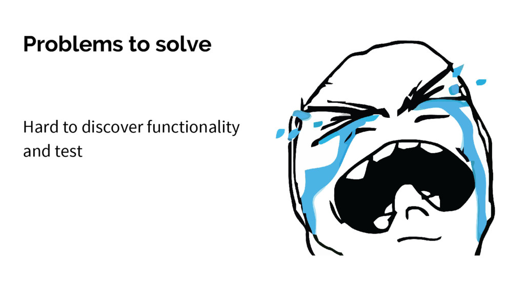 Problems to solve Hard to discover functionalit...