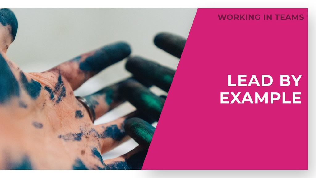 LEAD BY EXAMPLE WORKING IN TEAMS