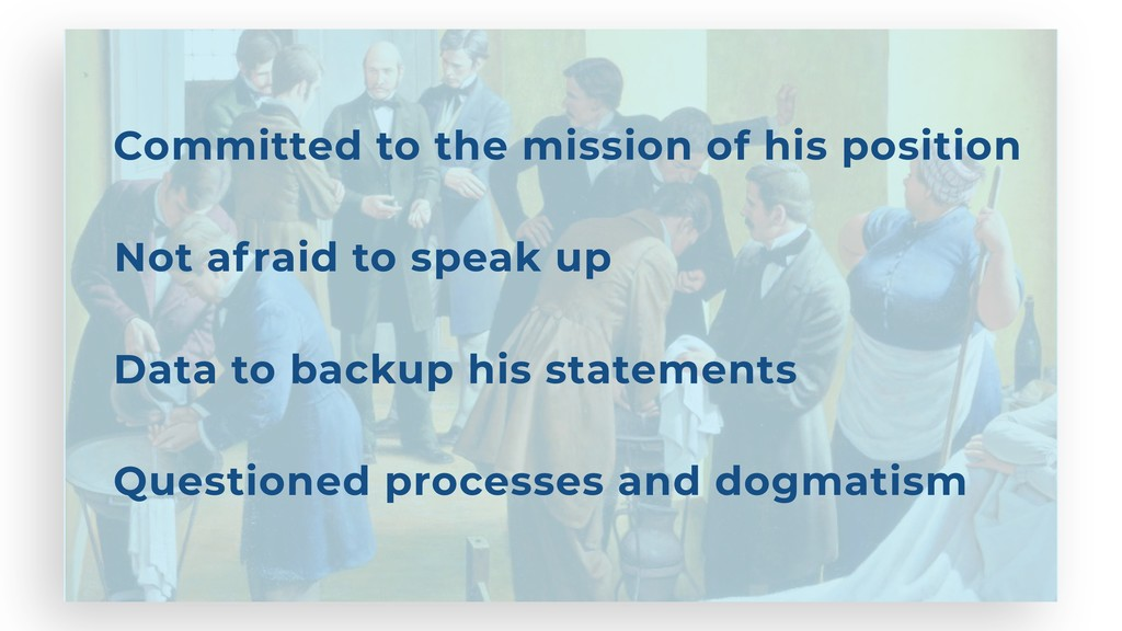 Committed to the mission of his position Not af...