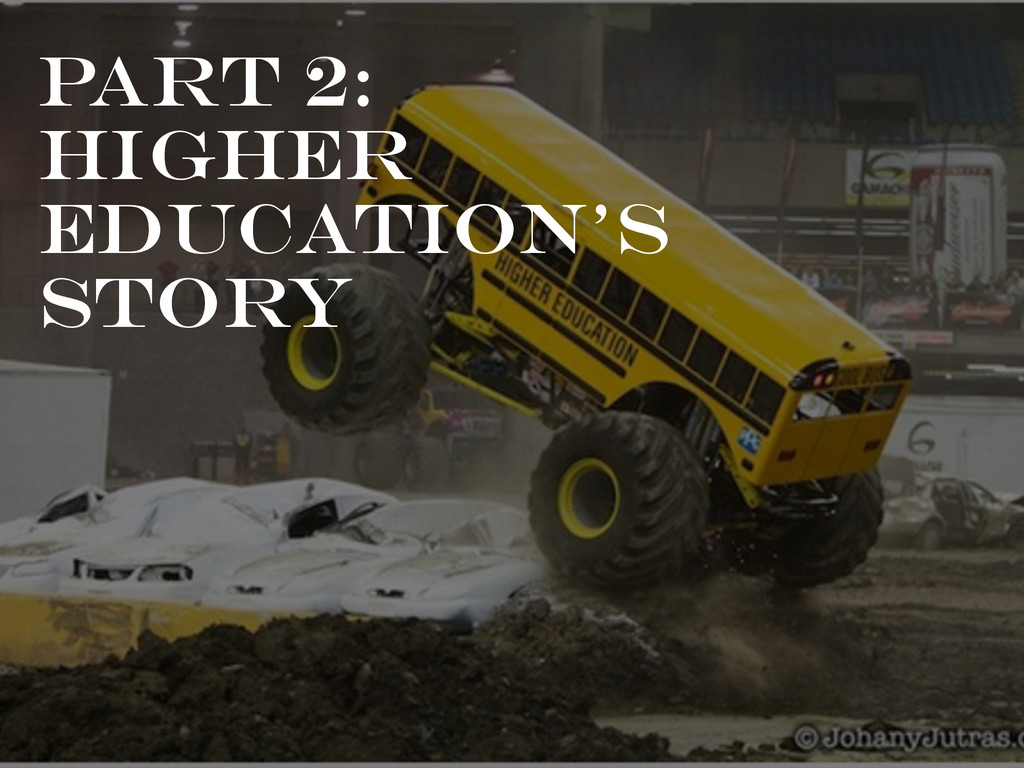 Part 2: HIGHER Education's Story