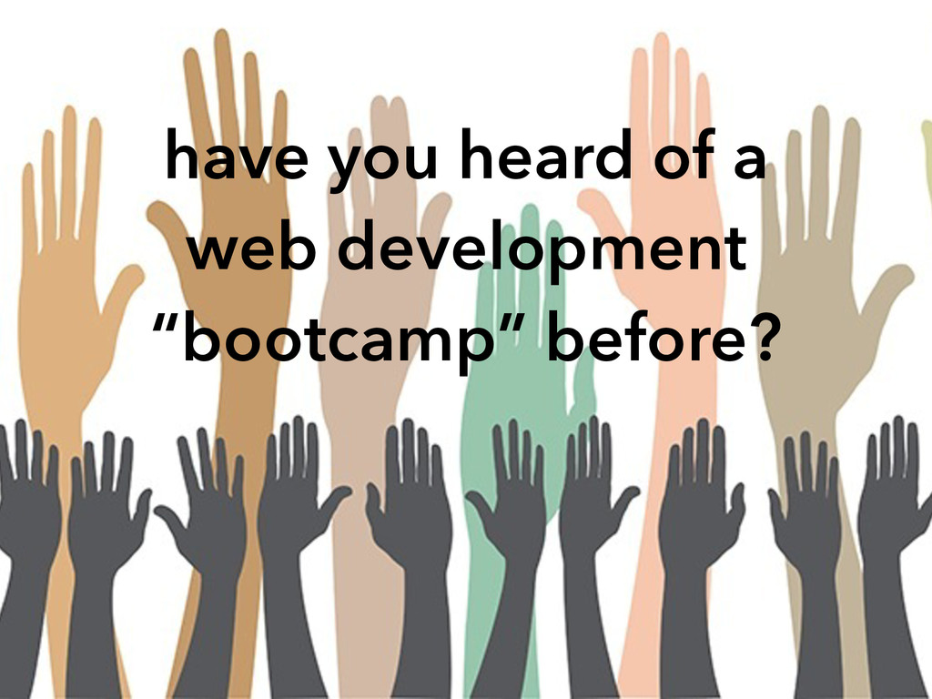 """have you heard of a web development """"bootcamp"""" ..."""