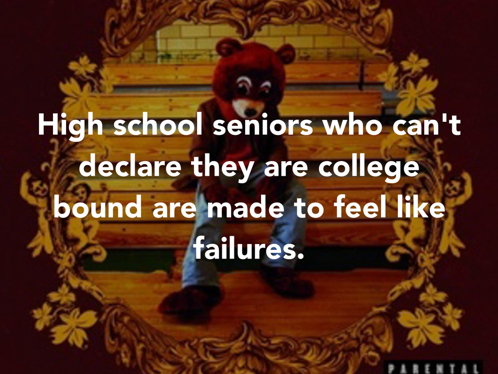 High school seniors who can't declare they are ...