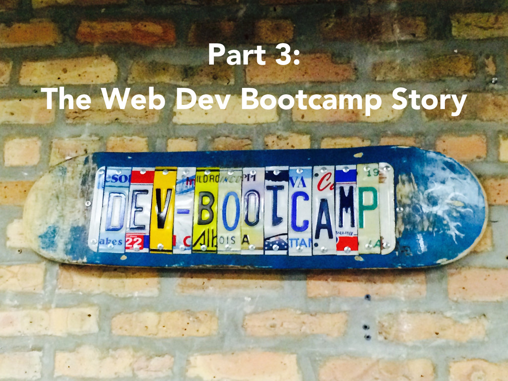 Part 3: The Web Dev Bootcamp Story