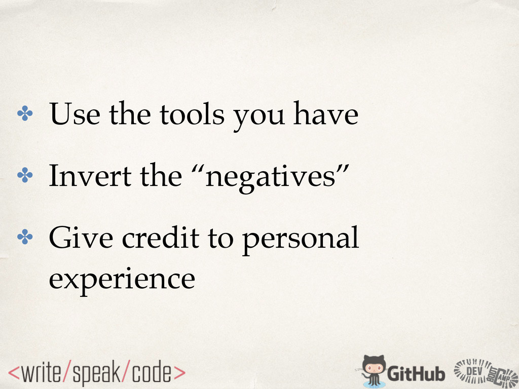 """✤ Use the tools you have! ✤ Invert the """"negativ..."""