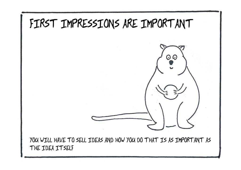 FIRST IMPRESSIONS ARE IMPORTANT YOU WILL HAVE T...
