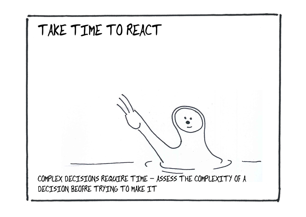 TAKE TIME TO REACT COMPLEX DECISIONS REQUIRE TI...