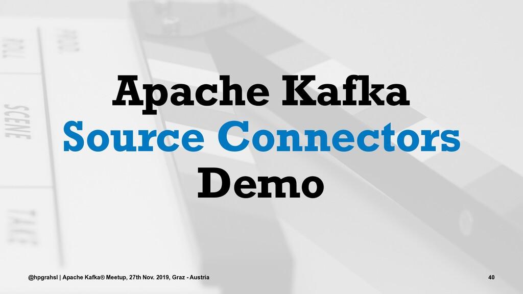 Apache Kafka Source Connectors Demo @hpgrahsl |...
