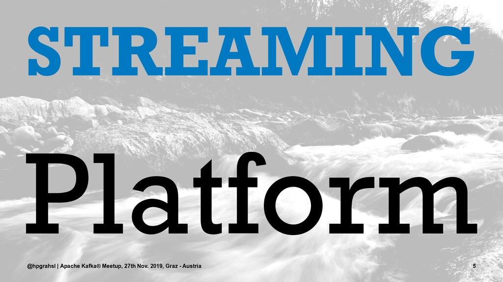 STREAMING Platform @hpgrahsl | Apache Kafka® Me...