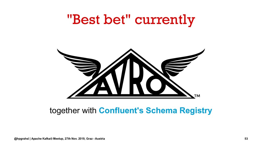 """""""Best bet"""" currently together with Confluent's ..."""