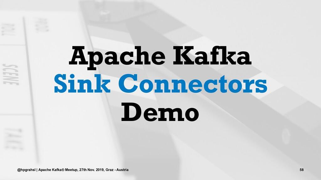 Apache Kafka Sink Connectors Demo @hpgrahsl | A...