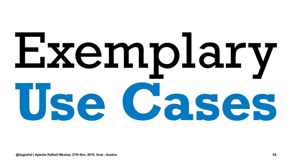 Exemplary Use Cases @hpgrahsl | Apache Kafka® M...