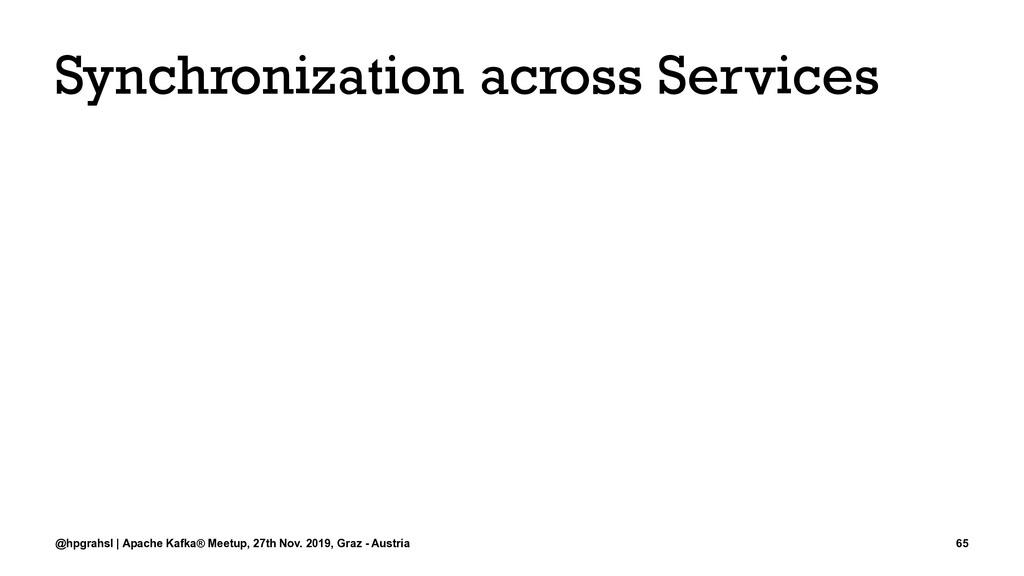 Synchronization across Services @hpgrahsl | Apa...