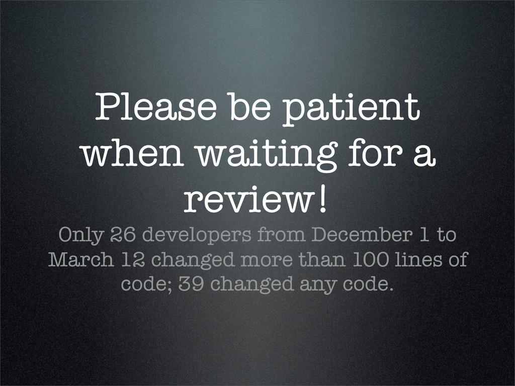 Please be patient when waiting for a review! On...
