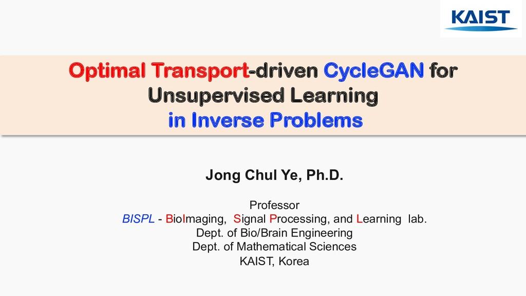 Optimal Transport-driven CycleGAN for Unsupervi...