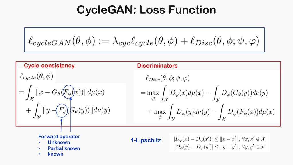 CycleGAN: Loss Function 1-Lipschitz Cycle-consi...