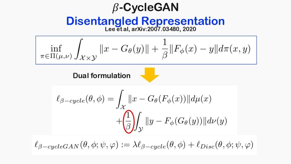 -CycleGAN Disentangled Representation Dual form...