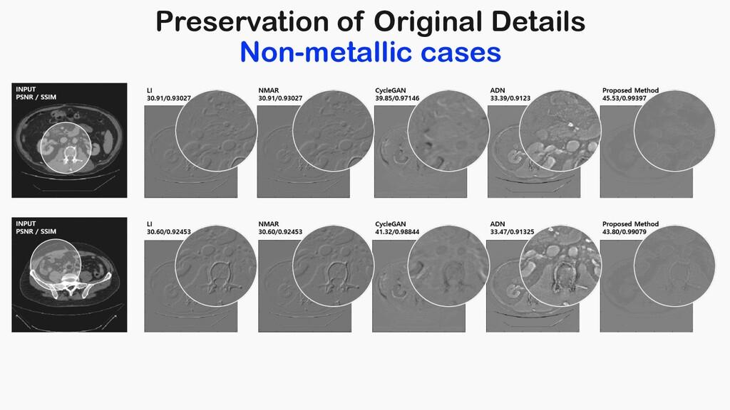 Preservation of Original Details Non-metallic c...