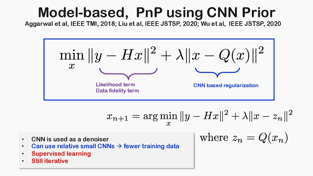Model-based, PnP using CNN Prior Likelihood ter...