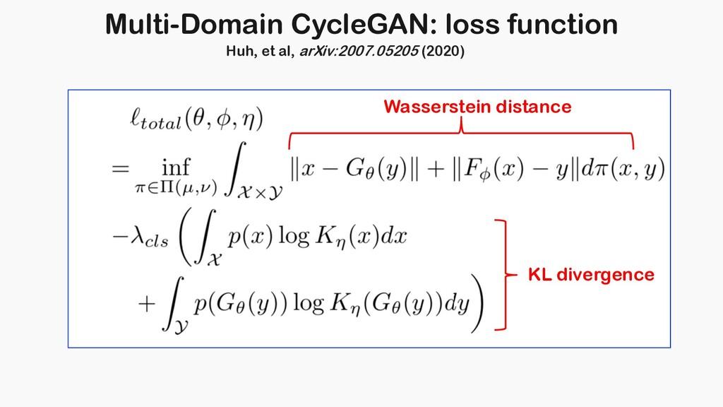 Multi-Domain CycleGAN: loss function KL diverge...