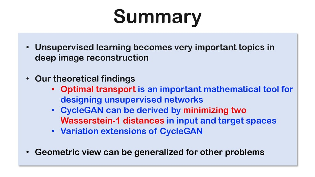 Summary • Unsupervised learning becomes very im...