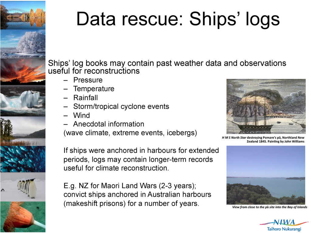 Data rescue: Ships' logs Ships' log books may c...
